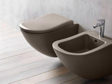 Wall-hung ceramic toilet FLUID | Wall-hung toilet