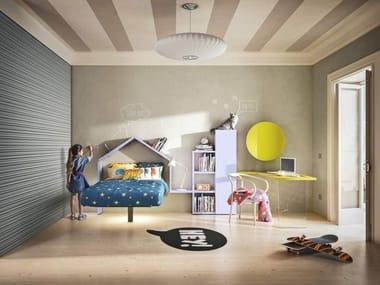 Suspended kids single bed FLUTTUA | Kids single bed
