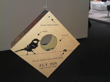 Cardboard bird feeder FLY INN