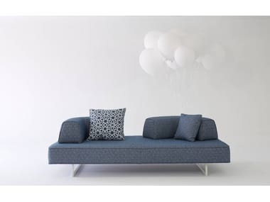 Sled base fabric sofa with removable cover FLYING STAGE   3 seater sofa