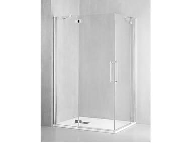 Box doccia angolare con porta a battente FO-ABA + FO-ABA