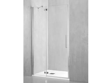 Box doccia a nicchia con porta a battente FO-PBA