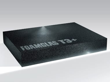 Cellular glass Thermal insulation panel FOAMGLAS® T3+