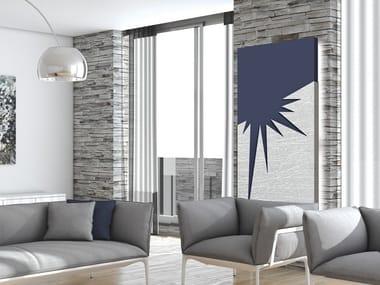 Aluminium radiator / decorative radiator FOGLIA D'ARGENTO