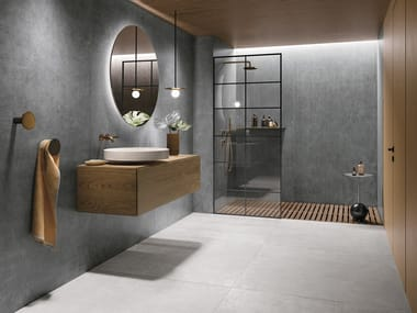 Porcelain stoneware wall/floor tiles with metal effect FOIL
