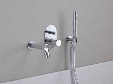 Wall-mounted Recessed bathtub set with hand shower FOLD | Bathtub set