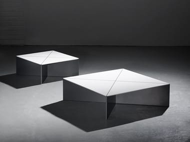Low square Solid Surface coffee table FOLD | Coffee table