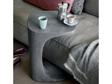 Square cement coffee table FONT | Cement coffee table