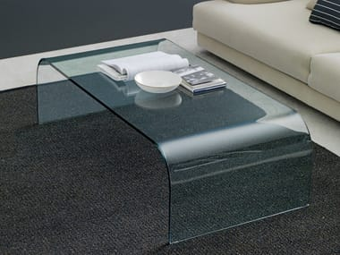 Rectangular float glass coffee table FONTANA | Coffee table