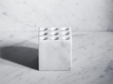 Countertop marble toothbrush holder FONTANE BIANCHE | Countertop toothbrush holder