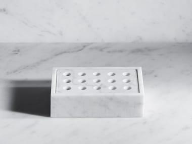 Porte-savon à poser en pierre naturelle FONTANE BIANCHE | Porte-savon