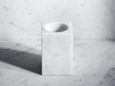 Portaspazzolino da appoggio in marmo FONTANE BIANCHE | Portaspazzolino