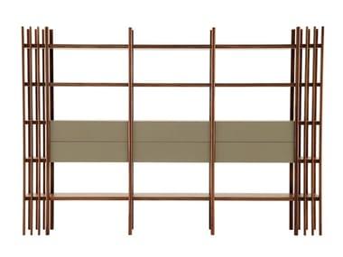 Open modular wooden shelving unit FOREST