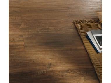 Pavimento/rivestimento in gres porcellanato effetto legno FOREST - NOCE