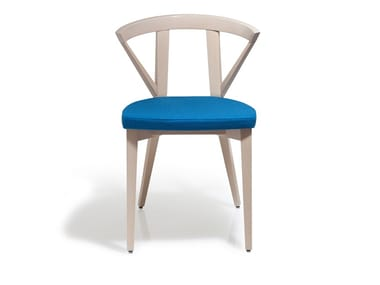 Beech chair with integrated cushion FOREST | Chair