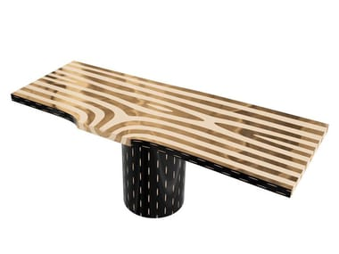 Rectangular resin dining table FOREST | Dining table