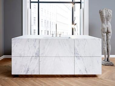 Marble kitchen FORM 45 - STATUARIO VENATO MARBLE