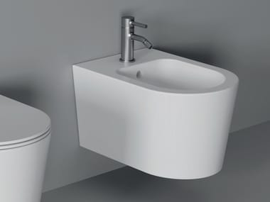Wall-hung ceramic bidet FORM SQUARE | Wall-hung bidet