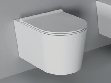Wall-hung ceramic toilet FORM SQUARE | Wall-hung toilet