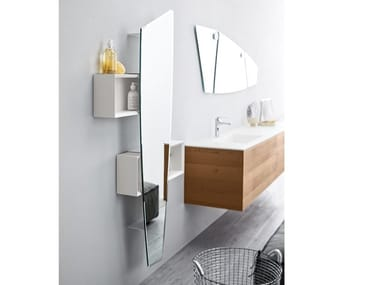 Wall-mounted mirror with cabinet FORMA | Mirror with cabinet