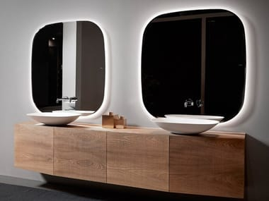 Wall-mounted wooden vanity unit FORMA | Wooden vanity unit