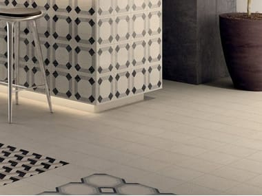 Porcelain stoneware wall/floor tiles with stone effect FORME BIANCO