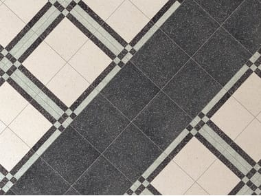 Porcelain stoneware wall/floor tiles with stone effect FORME NERO