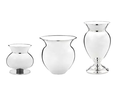 Silver plated vase FORME | Vase