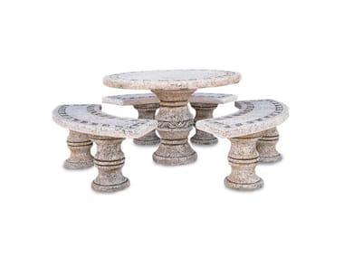 Seduta e tavolo in pietra ricostrutita FORMENTERA