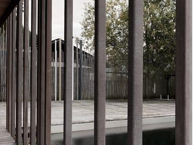 Fiber-reinforced concrete solar shading FORMPARTS FINS