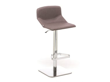 Fabric stool with back with footrest FORMULA SLIM ST-ADJ