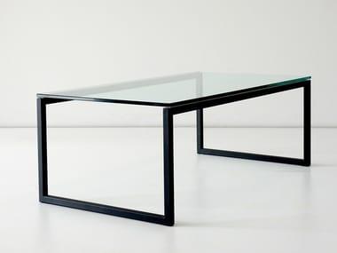 Rectangular Glass Coffee Table For Living Room FORT YORK