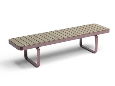 Backless steel and wood Bench FORUM | Backless Bench