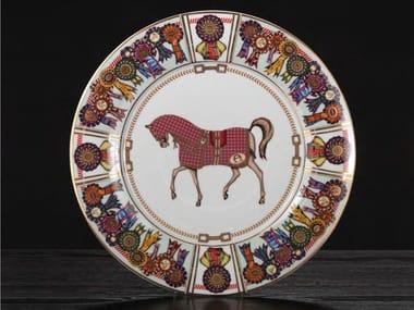 Porcelain plates set FOUR HORSES | Plates set