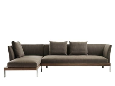 Sectional fabric sofa with chaise longue FOUR SEASONS | Sofa with chaise longue