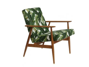 Fabric easy chair with armrests FOX DECO | Easy chair