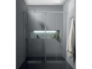 Box doccia a nicchia con porta scorrevole FPSC57 | Box doccia a nicchia