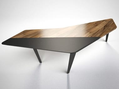 Walnut and iron table FRAGMENTS | Table