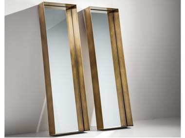 Freestanding framed metal mirror FRAME