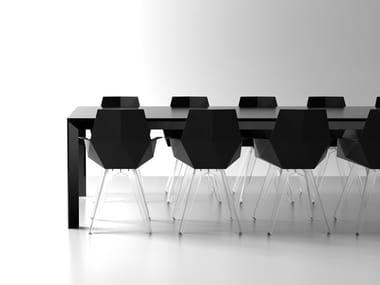 Rectangular polyethylene garden table FRAME | Rectangular table