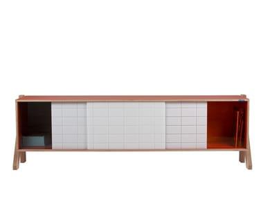 Sideboard with sliding doors FRAME SIDEBOARD 01 MID