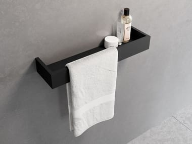 Handtuchhalter / Wandregal für Badezimmer aus Metall FRAME | Towel holder with storage shelf