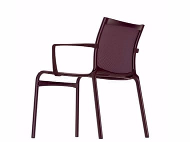 Stackable mesh chair with armrests FRAME XL COLORS - 459_C