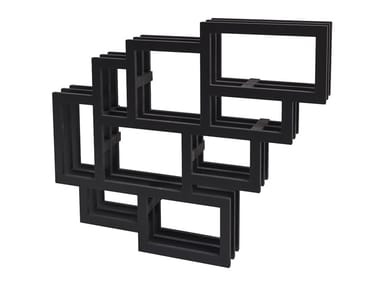 Wall-mounted lacquered MDF bookcase FRAMES WALL