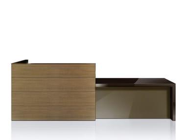 Wooden Office reception desk FRANCE