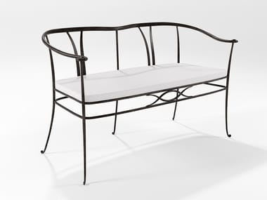Small sofa in forged solid iron FRANKLIN