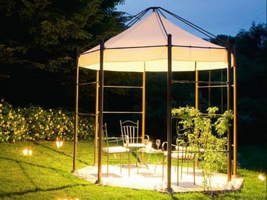 Metal gazebo with built-in lights FRASSANELLE