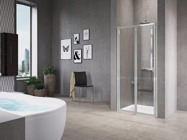 Box doccia a nicchia con porta a soffietto FREE 1 | 2 P (VERSIONE ALTA)