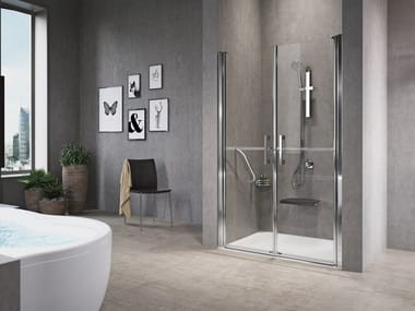 Niche shower cabin with hinged door FREE 1 2B