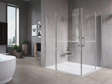 Box doccia angolare con porta a battente FREE 1 | A